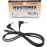 Hogtunes 1 Meter Audio Stereo Cable for Harley 90° Ends MP3/SAT/GPS 4401-0072