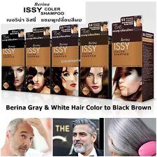 Berina Hair Color Shampoo Cover Change Grey White Hair Permanence Black & Brown