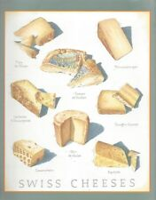 Cooks Illustrated ~ BACK COVER ONLY ~ Framable  Art John Burgoyne  SWISS CHEESES
