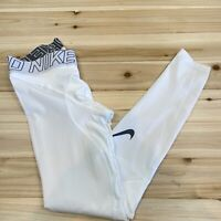 New Nike Men's S Hyper Compression Training Tights White 646368-100 $90 Retail