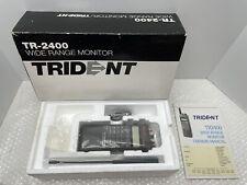 MINT CONDITION - TRIDENT TR-2400 TR2400 WIDE RANGE RADIO MONITOR SCANNER