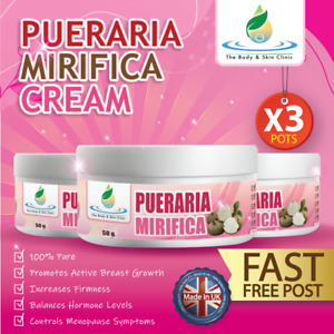 3x BREAST ENLARGEMENT 100% PURE PUERARIA MIRIFICA CREAM VERY STRONG AND PURE POT