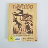 RAWHIDE The Complete Season 1 Collector's Edition DVD Wooden Box Set
