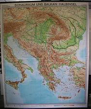 Scheda crocifissi Muro Carta Danubio adriatico mediterraneo Grecia Turchia 178x217 1968