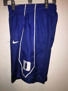 Mens Nike Dri-Fit DUKE BLUE DEVILS Authentic HE Game Royal Blue and Black Shorts
