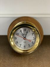 Vintage Chelsea Shipstrike Boston Brass Marine Clock Quartz