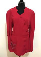 CULT VINTAGE '40 WWII Camicia Donna Rayon Gabardine Woman Shirt Sz.L - 46