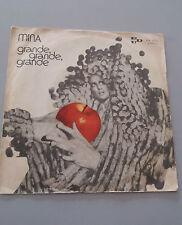 """MINA 45 giri 7""""grande grande grande - non ho parlato mai VINYL PDU 1972 siae"""