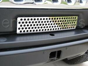 2008-2010 H2 HUMMER MINI GRILLE COVER STAINLESS STEEL
