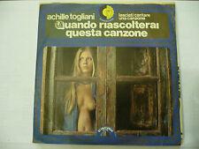 """ACHILLE TOGLIANI""""LASCIAMI CANTARE-disco 45 giri CINEVOX Italy 1974""""SEXY COVER"""