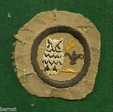 GIRL SCOUT BADGE - 1922-27 SCHOLARSHIP - KHAKI - ESTATE LIQUIDATION