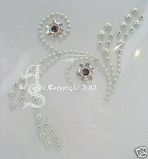 Hotfix Bügelbilder Strass hübsche edle Ranke Ornament  D Pearl 130407