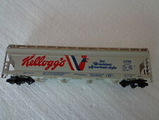 VINTAGE TYCO HO SCALE TRAIN CAR KELLOGGS CLOSED COVERED HOPPER
