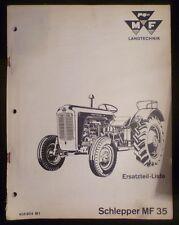 Massey Ferguson Schlepper MF 35 Ersatzteilkatalog