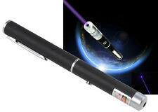 New Powerful Strong UV Purple Ray Led Light Beam Lazer Laser Pointer Pen 1mW A+