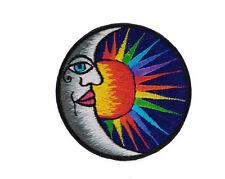 Insignia bordado luna y sol surya budismo artesanía hecho a mano AA-C01