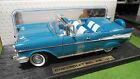 CHEVROLET BEL AIR bleu cabriolet 1/18 d ROAD SIGNATURE YATMING voiture miniature
