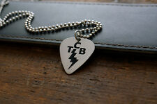 Elvis Presley TCB Hand Made Etched Pendant w/ Necklace