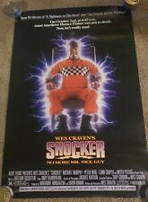 MINT ROLLED! Wes Cravens SHOCKER 1989 ORIGINAL Movie Poster 27X40 Wes Craven