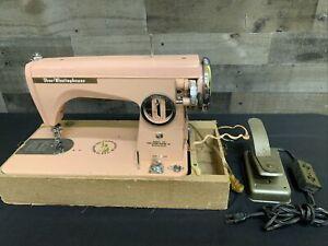 Rare Vintage Free-Westinghouse Pink Model SII Japan Sewing Machine 40s or 50s