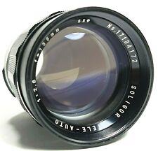 Soligor 135mm F/2.8 Telephoto Prime Lens M42 Screw Mount UK Fast Post
