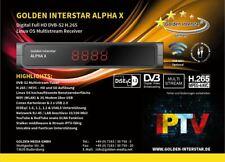 Golden Interstar Alpha X (DVB-S2 Multistream H.265, Linux OS)