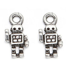 100x Antique Silver Show Of Hands Robot Alloy Pendant Fit Jewelry Making Lots L