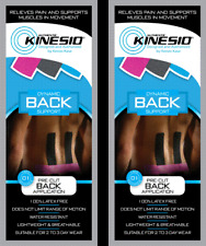 KINESIO Pre Cut Tape - PACK OF 2. For BACK injuries & support. FREE POST