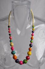 Collier ethnique en bois multicolor n° 5