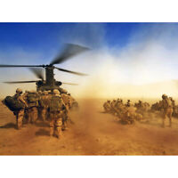 Military UK Royal Regiment Fusiliers Chinook Canvas Wall Art Print Poster