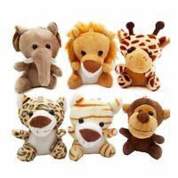 Animal Plush Toy Cute Stuffed Doll Jungle Tiger Elephant Monkey Lion Giraffe New