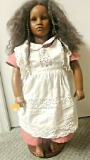 """Annette Himstedt Fatou 26"""" African American Doll 1986 Realistic Vinyl and Cloth"""