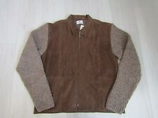 Tumi Women's Brown Leather Alpaca Wool Jacket Made in Peru Size Medium NWT
