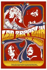 Heavy Metal: Led Zeppelin at Los Angeles Forum Concert Poster 1972 12x18