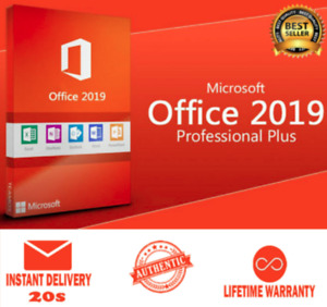 🔐MICROSOFT®OFFICE 2019 PRO PLUS 32/64 BIT ✅ 1SEC DELIVERY ✅ LICENSE KEY 🔐✅