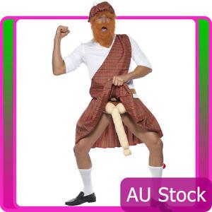 Well Hung Highlander Bucks Mens Costume Tartan Scotsman Scottish Funny Dress