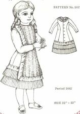 """Period Doll Dress 22 -23"""" Pattern Victorian German French vitage look"""
