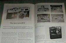 Leica M4 and M4-P Articles in Vintage Leica Fotografie Magazines (1967/1980)