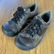 Keen Briggs Mens Size 9 Brown Leather Lace Up Outdoor Hiking Low Top Shoes Boots