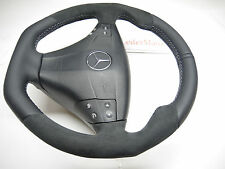Mercedes W203 C class Thick flat bottom suede Sports custom Steering Wheel AMG
