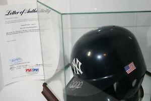 2001 Derek Jeter Autographed Game Ready Flag Batting Helmet! PSA/DNA!