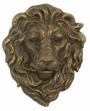 "Decorative & Tough Cast Iron Lion Head Hanging Garden Plaque 10.5""x9"" by Gsm"