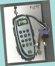 Layback Skater Hand Painted Wooden High Glitter Cell Phone Charm by Cheryl Lee