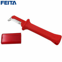 FEITA 1pcs Red German Type Insulation Cable Stripping Knife For Home Renovation