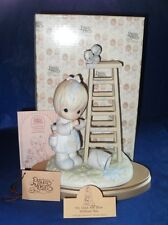 """PRECIOUS MOMENTS FIGURINE  """"MY DAYS ARE BLUE WITHOUT YOU""""  ~ $125.00 VALUE~"""