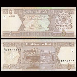 Afghanistan 5 Afghani, 2002, P-66, UNC, Banknotes, Original