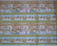 BEATRIX POTTER border stripe kids quilting fabric - by the 1/2 METRE