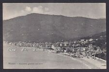 SAVONA ALASSIO 157 SPIAGGIA Cartolina viaggiata 1912