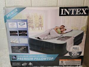 "Intex 22"" Full Dura-Beam Dream-Lux Pillowtop Airbed Mattress with Internal Pump"
