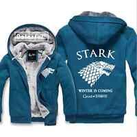Game of Thrones Direwolf Ghost House of Stark Zip Coat Jacket Sweatshirt Hoodie